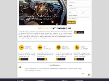 Chauffeurs site creation