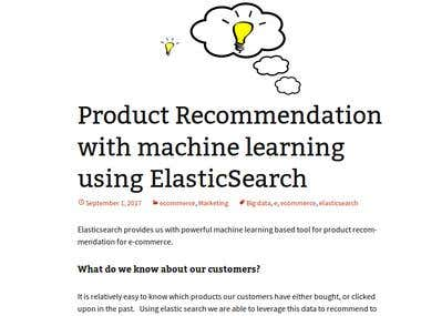 Ecommerce product recommendation with elasticsearch