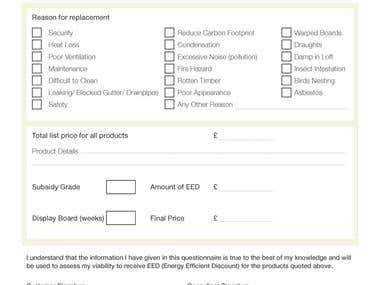 Form for Energy Discount Scheme Part 3