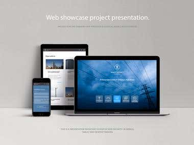 Web showcase project presentation.
