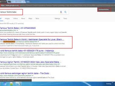 SEO 1st page ranking
