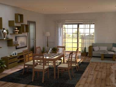 Room Design Render Maya