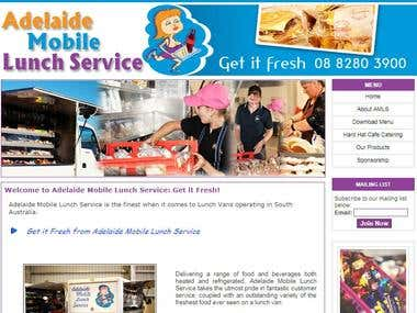 Adelaide Mobile Lunch website in plain HTML