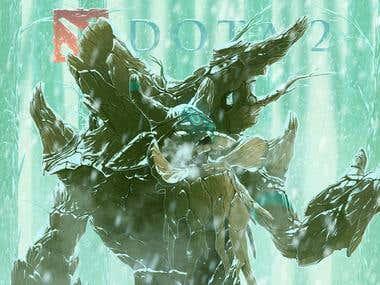 Concept Art : Dota2 (Winter is Coming)Fan art