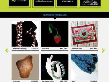Graphic Design - Online Shop Concept