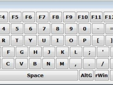 Virtual On Screen Keyboard by AutoHotKey Programming