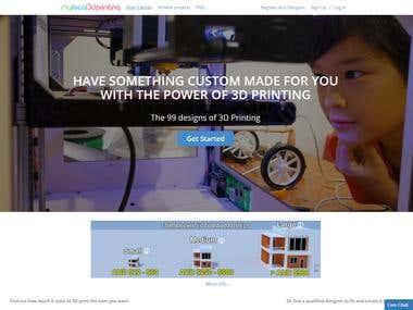 3D Printing Service Website(Laravel Framework)