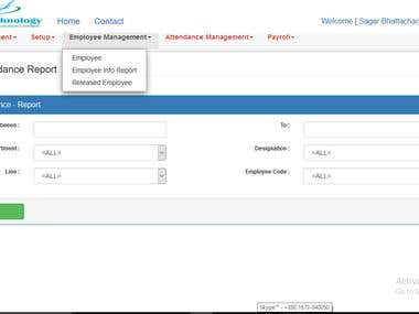 Payroll & Attendance Design In MVC