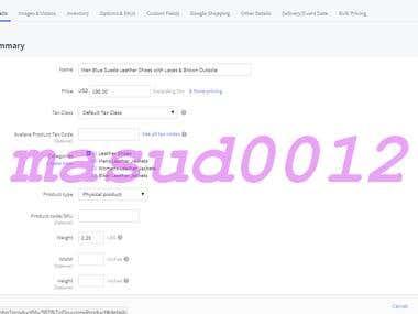 Big Commerce Product Upload and Customization