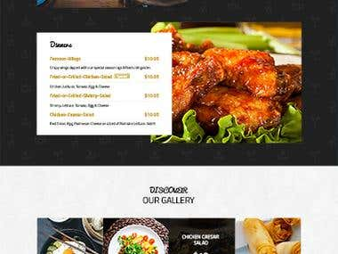 Bar & Restaurant website Design Creation