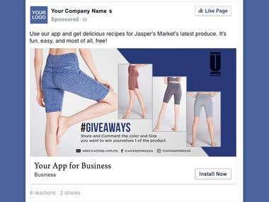 Social media marketing ad