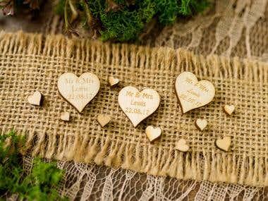 Product Photography_Wedding Stationary_Engraved Wood