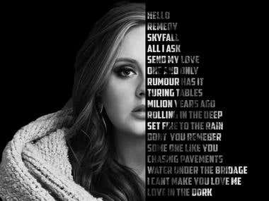 Adele Musics name,T-shirt Design,Logo for YouTube channel