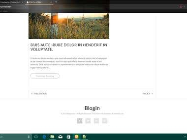 PSD to HTML Project