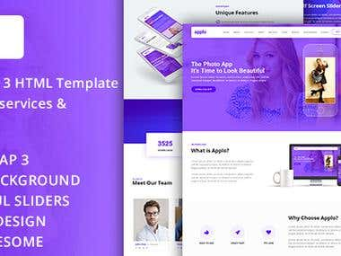 APPLO - Video Background Bootstrap Theme for sell on Envato