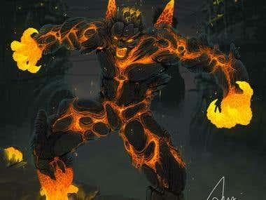 Digital Painting : Character design (Magmus)
