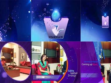 IndusTv Rebrand Channels Idents Logo formations