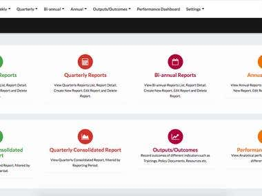 Online Reporting Tool - Data Collection & Report Generation