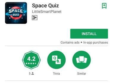 Space Quiz - Android App Testing