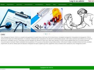 Web Clinic Management System (WCM)