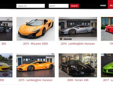 Prime Exotics - Car Listing Site