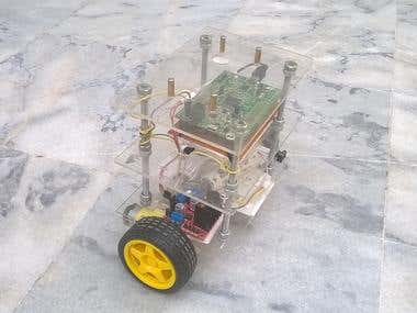 Self Balancing Robot with DTMF Capability