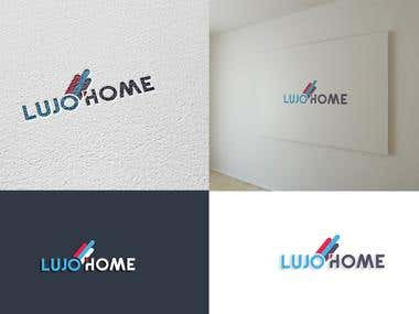 Lujo Home Logo Design