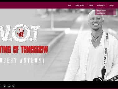 Victims of Tomorrow Website & Logo Design