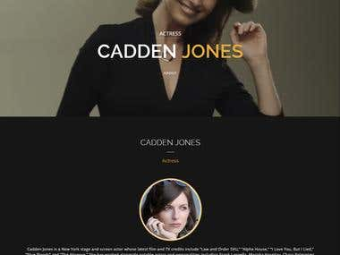 WordPress | Cadden Jones NY Actress Profile