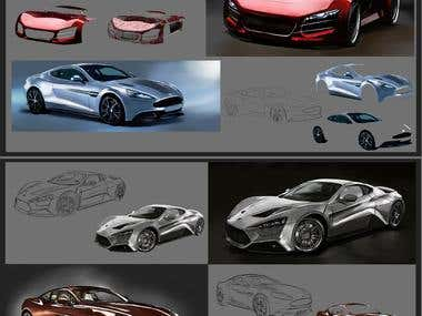 concepts cars illustrations