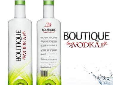 boutique vodka label design