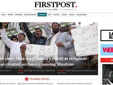 Firstpost - Latest News, Today's Breaking India's Live News