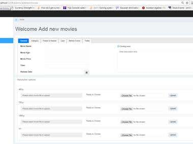 Backend web app for movie sale service android app