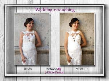 Wedding retouching