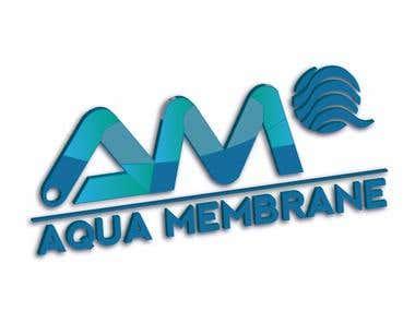 Aqua company 3d logo