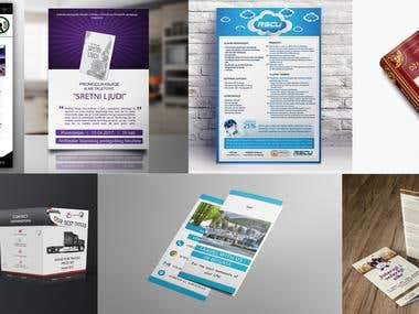 Graphic design, Web design, Logo design, Print design