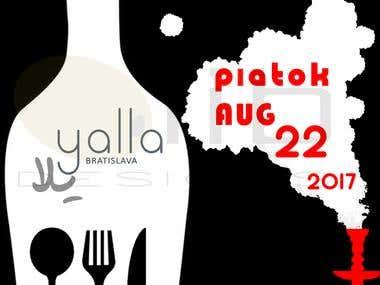 Yalla Restaurant Graphic Design