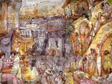 Ninevah Religious Painting
