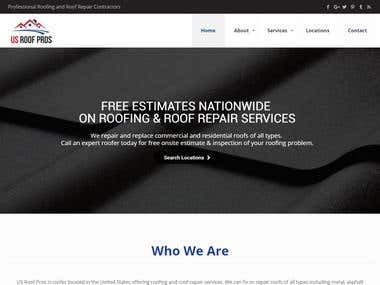 US Roof Pros Website