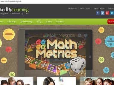 Linkedup Learning Website Development & Game development