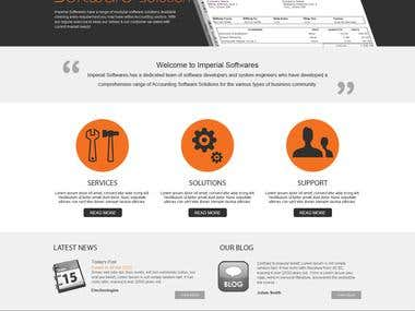 Financial software marketing website