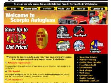 Auto Glass Company Business Website (US)