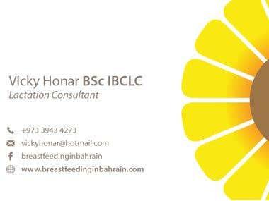 Business Card - Vicky Honar