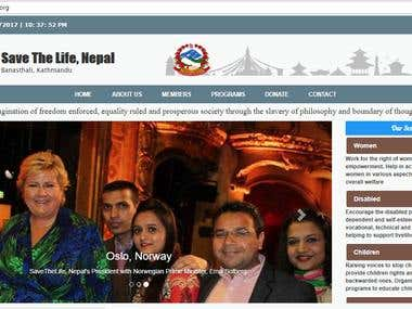NGO Website from Scratch