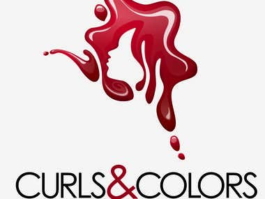 Logo design - Curls and Colours