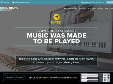 Playground Sessions website Design