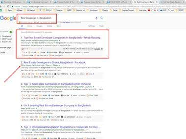 SEO Google Top Page