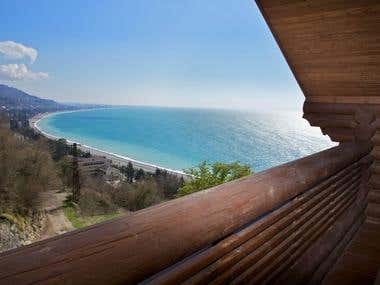 villaakvavizi.ru- website for mini hotel in Gagra - Abkhazia