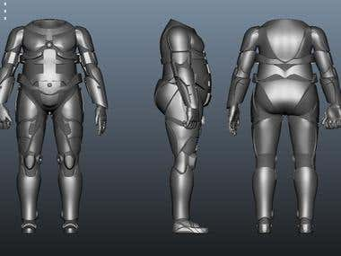 3d model of Robot Suit