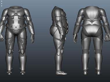 3d model of Robot Suit
